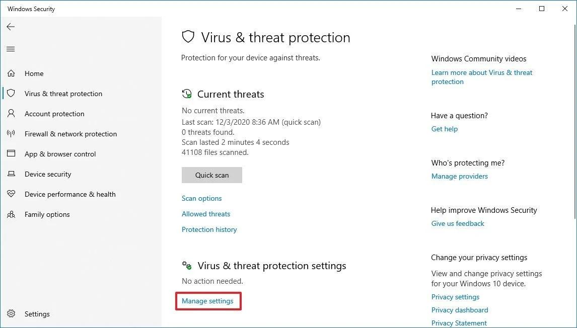Windows Defender Ausreichend 2021