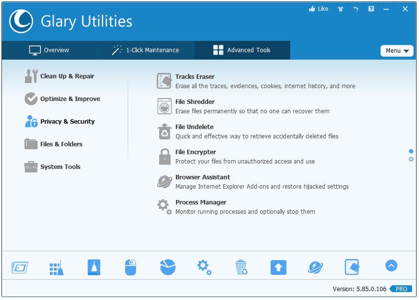 Key bản quyền phần mềm chăm sóc máy tính Glary Utilities Pro 5