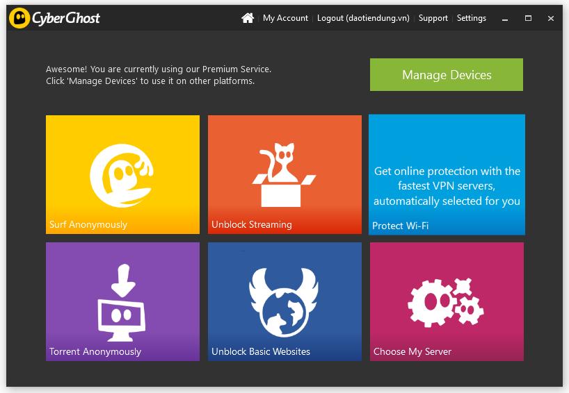 Hướng dẫn cài đặt và sử dụng phần mềm ẩn IP Cyberghost VPN