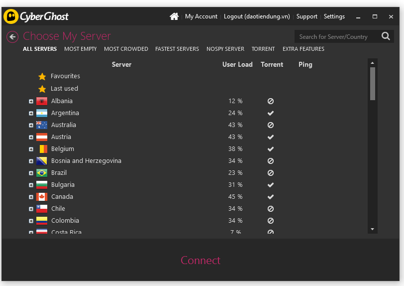 Cài đặt Cyberghost VPN 4