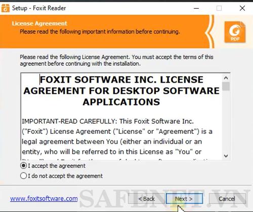 cài đặt foxit reader-B3_result