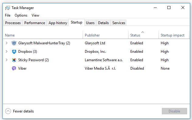 Phần mềm quản lý các chương trình khởi động cùng Windows