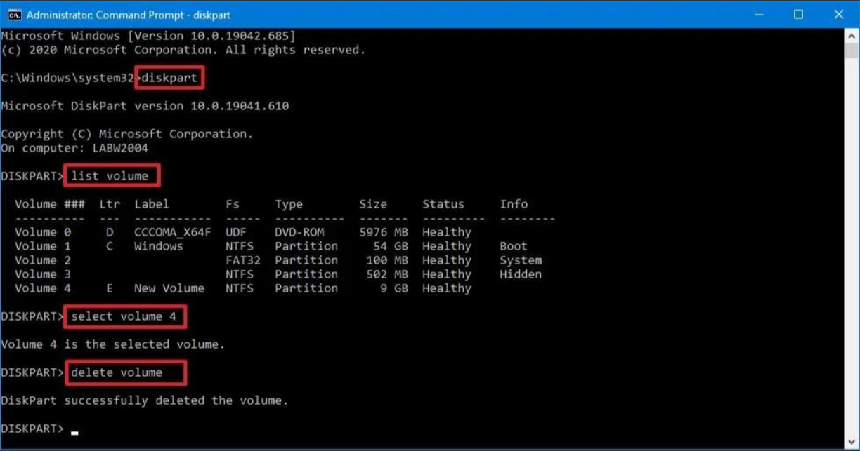 Cách xóa phân vùng ổ đĩa bằng Command Prompt