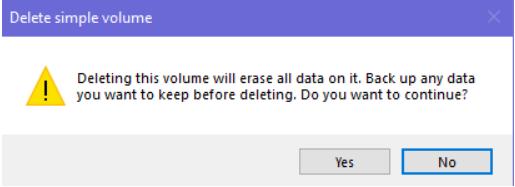 Cách xóa phân vùng bằng ổ đĩa Disk Management