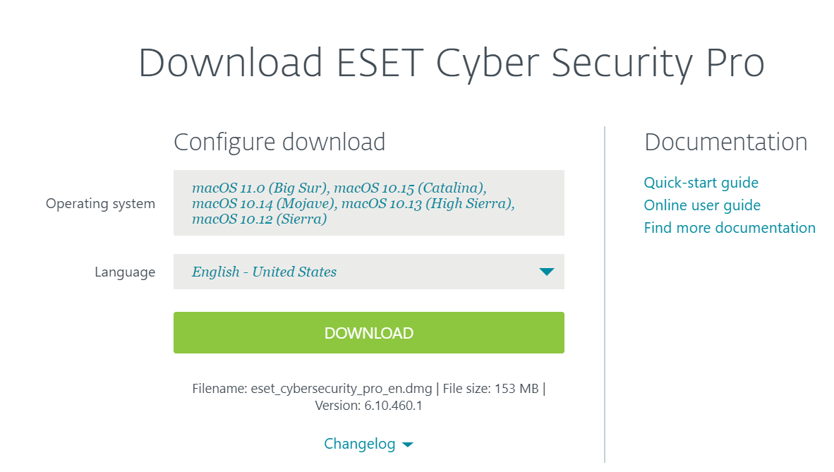 Download Eset Cyber Security Pro