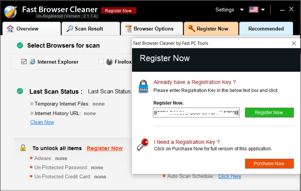 Key bản quyền Fast Browser Cleaner