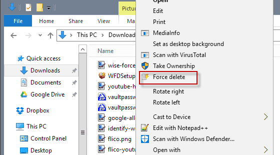 Force Delete