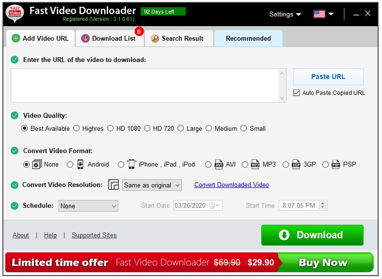Free Fast Video Downloader