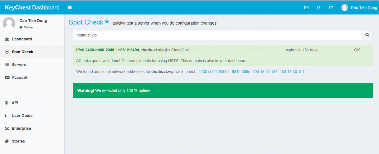 giám sát trực tuyến ssl