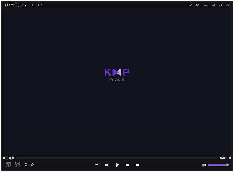 giao diện phần mềm KMPlayer