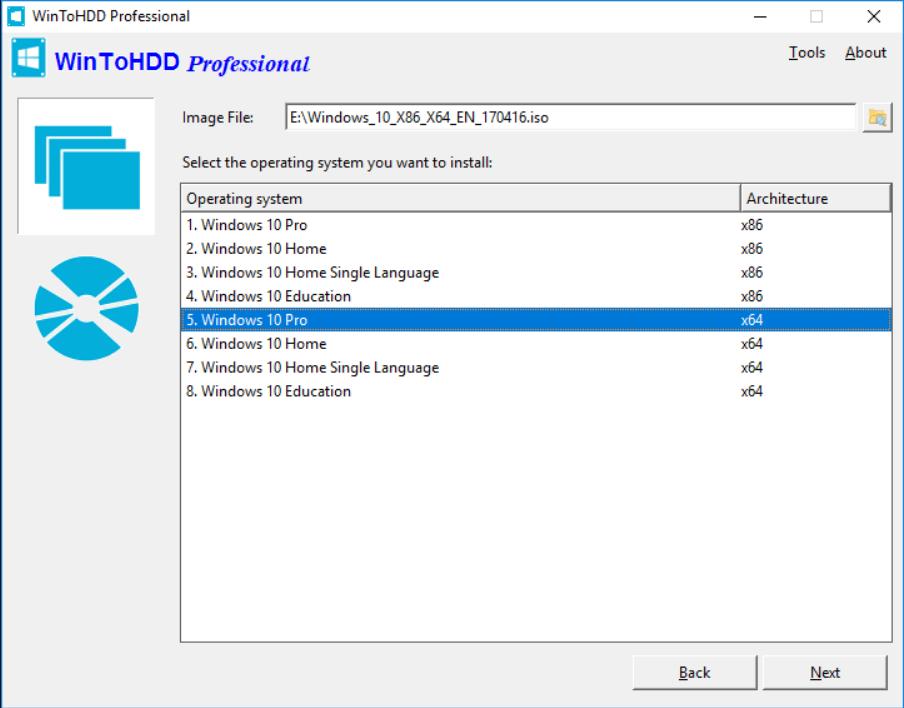 Cài đặt Windows với Wintohdd