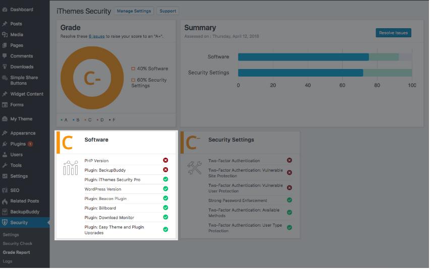 Plugin bảo mật cho WordPress iThemes Security Pro 6.x có sự lột xác