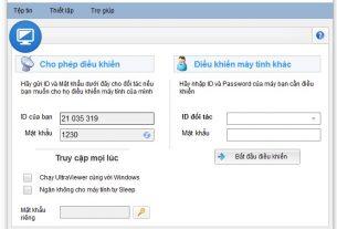 Điều khiển máy tính từ xa với phần mềm UltraViewer