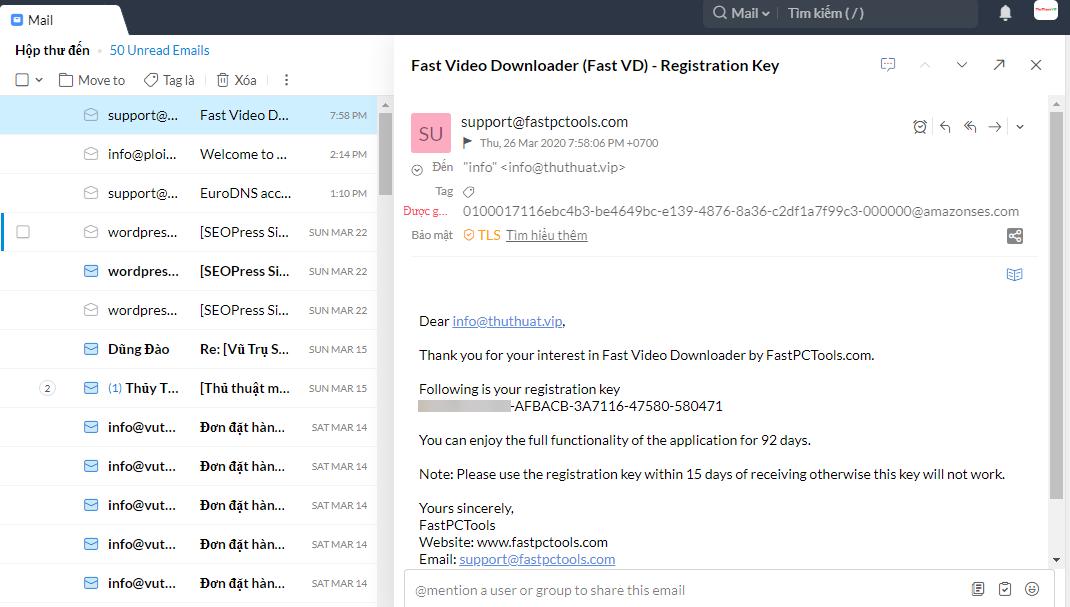 Key Phần Mềm Fast Video Downloader
