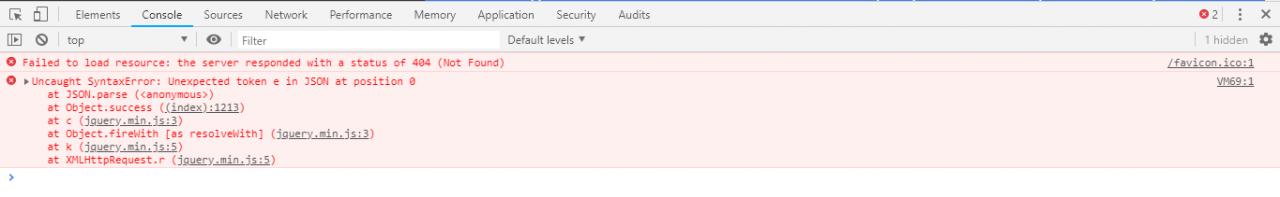 Lỗi console log