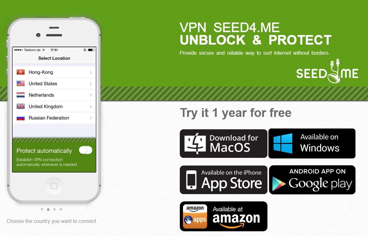 Miễn phí 1 năm phần mềm VPN Seed4