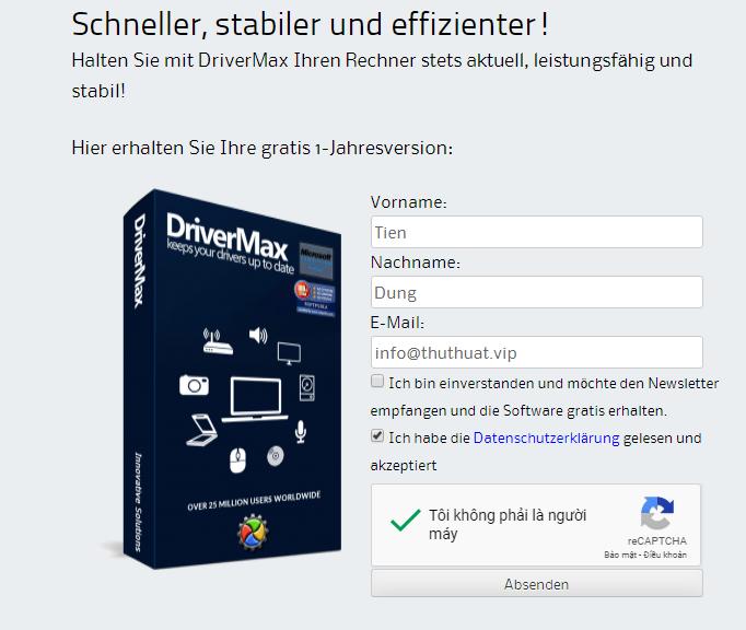 Nhận key phần mềm drivermax