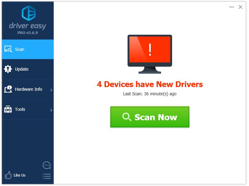 Cập nhật driver cho máy tính với phần mềm Driver Easy