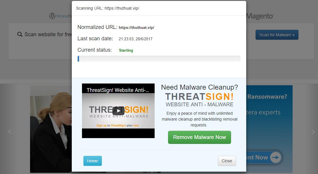 scan website