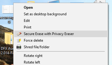 Secure Erase With Privacy Eraser
