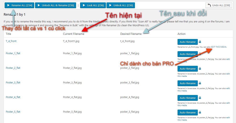Thay đổi tên hình ảnh trong WordPress với Media File Renamer