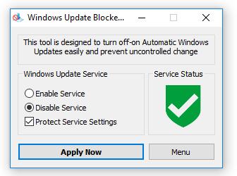 Tắt Windows update nhanh chóng chỉ với 1 cú click chuột