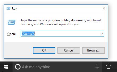 Windows + R