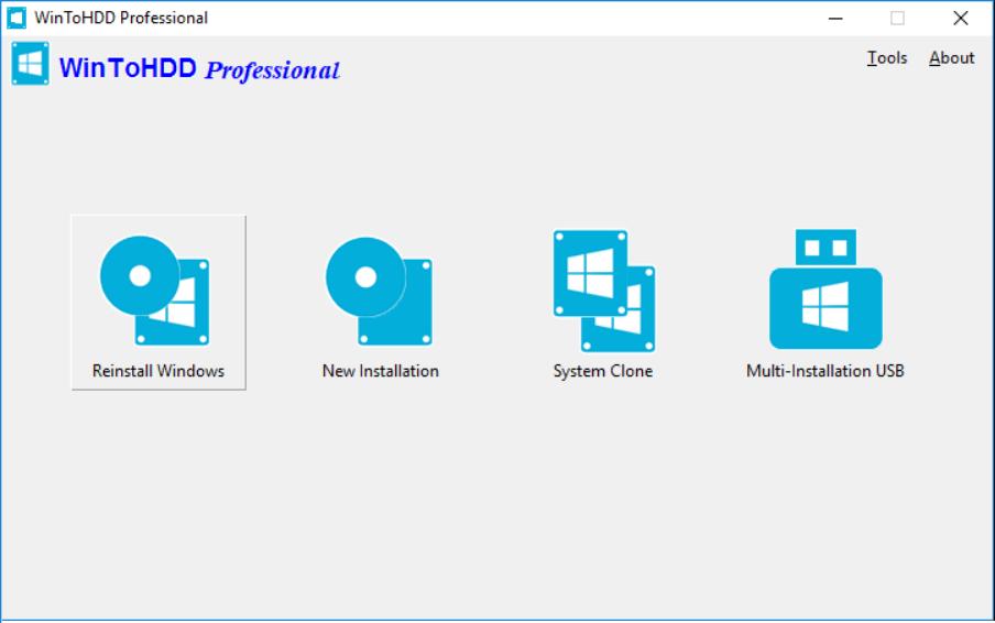 Cài đặt nhanh Windows với WinToHDD Professional