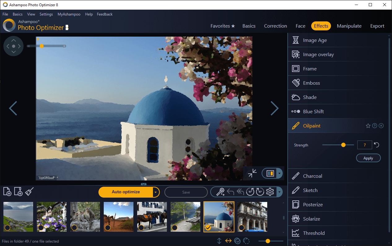 Tối ưu hóa hình ảnh với Ashampoo Photo Optimizer 7