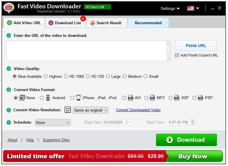 Miễn phí phần mềm download video – Fast Video Downloader