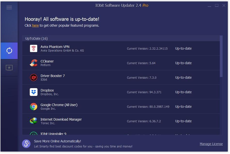 Cập nhật phần mềm trên Windows với IObit Software Updater