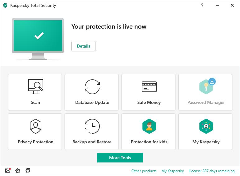 Miễn phí 3 tháng phần mềm diệt virus Kaspersky Total Security 2021