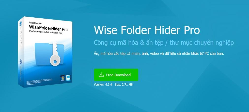 Ẩn file hay thư mục Windows với Wise Folder Hider Pro