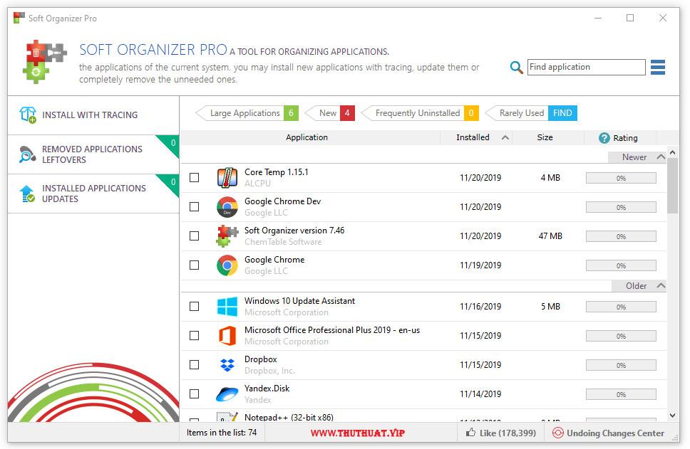Phần mềm gỡ bỏ ứng dụng khỏi Windows – Soft Organizer Pro