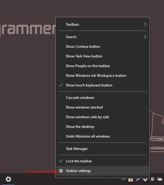 Cách cài taskbar trên Windows 10 tự động ẩn hiện