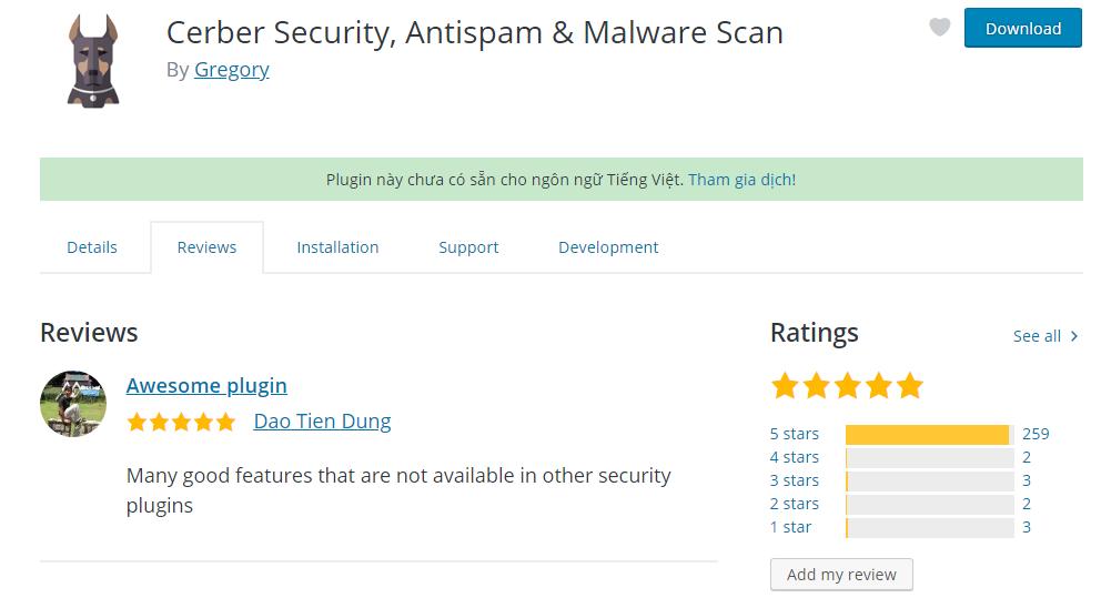 WP Cerber – Bảo vệ website của bạn trước spamer, malware và hacker